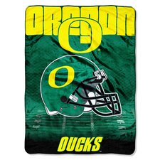 College NCAA Oregon Polyester Micro Raschel Throw