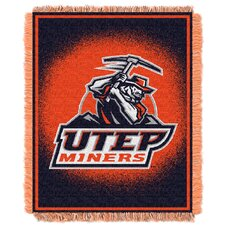 NCAA UTEP Triple Woven Jacquard Acrylic Throw
