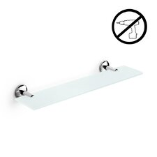"Noanta 31.2"" W x 2.2"" H Glass Bathroom Shelf"