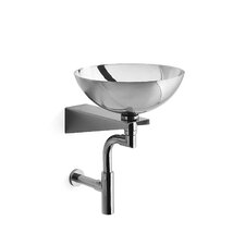 Albio Stainless Steel Bathroom Sink with Wall Bearing