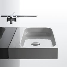 Unit Ceramic Wall Mounted Vessel Bathroom Sink