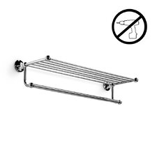 Venessia Wall Mounted Self-Adhesive Towel Rack with Hanging Towel Rail