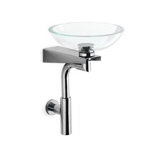 Goto Wall Mounted Bracket with Glass Sink, Trap and Drain