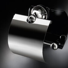 Vanessia Wall Mounted Toilet Paper Holder with Cover