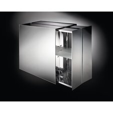 "<strong>WS Bath Collections</strong> Linea Pika 24.4"" x 22"" Surface Mount Medicine Cabinet"