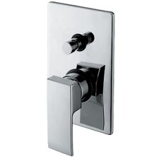 "<strong>WS Bath Collections</strong> Linea 4.7"" x 7.5"" Crui Diveter Faucet Shower Faucet Trim Only"