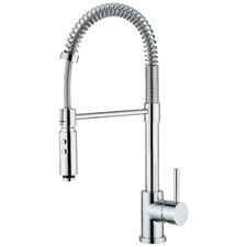 <strong>WS Bath Collections</strong> Linea One Handle Single Hole Bar Faucet with Pull Out Spray