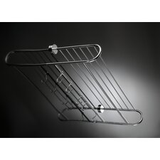 "Duemila 23.6"" x 11.4"" Towel Rack in Polished Chrome"