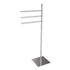 "<strong>WS Bath Collections</strong> Complements 35.6"" x 9.1"" Rampin Towel Stand in Polished Chrome"