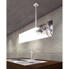 "<strong>WS Bath Collections</strong> Mirror Pure 33"" Hydrus Ceiling Mount Mirror in Stainless Steel"