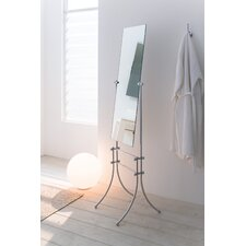Vanessia Free Standing Mirror in Polished Chrome