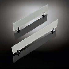 "Baketo 19.5"" Frosted Glass Shelf in Polished Chrome"