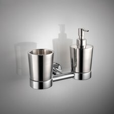 <strong>WS Bath Collections</strong> Napie Wall-mount Tumbler and Soap Dispenser
