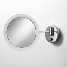 <strong>WS Bath Collections</strong> Mevedo Wall-mount Twistable Magnifying Makeup Mirror, with Lighting