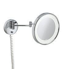 Pom d'Or Wall-mount Extendable Magnifying (3X) Makeup Mirror with Light, 9.5""