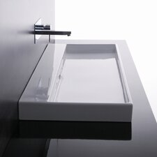 <strong>WS Bath Collections</strong> Ceramica I Urban Ceramic Bathroom Sink