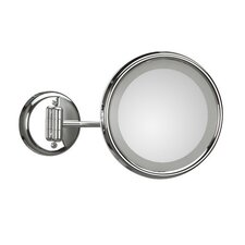 Lucciolo Wall-Mount Magnifying Cosmetic Mirror with Lighting