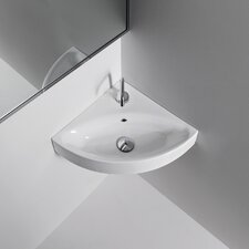 <strong>WS Bath Collections</strong> Kerasan Cento Wall Mounted / Vessel Bathroom Corner Sink