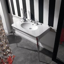 "Kerasan Retro 39"" Single Console Bathroom Vanity Set"