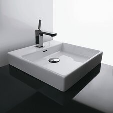 <strong>WS Bath Collections</strong> Ceramica Valdama Plain Vessel Bathroom Sink
