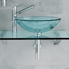 "<strong>WS Bath Collections</strong> Linea 51"" Barujo Wall Mount Bathroom Countertop Vanity Set"