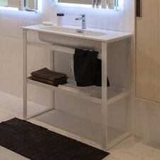 "Linea 35"" Free Standing Bathroom Vanity Set with Single Sink"