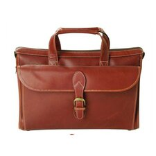 Adventure Compact Leather Laptop Briefcase