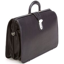 LaRomana Framed Laptop Leather Briefcase