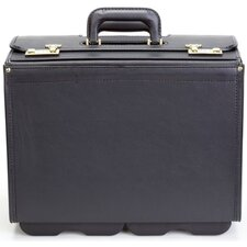 Deluxe Vinyl Wheeled Catalog Case in Black