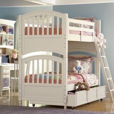 <strong>Build-A-Bear by Pulaski</strong> Pawsitively Yours Twin over Twin Bunk Bed with Trundle