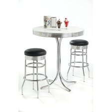 Retro 3 Piece Pub Set in Bright Chrome