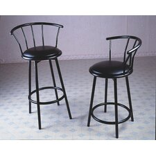 Swivel Barstool in Black
