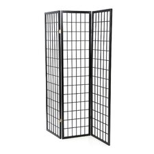 CS17430337Three Panel Screen Black