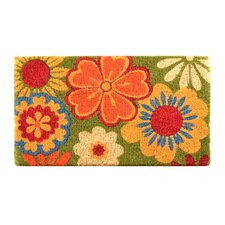 Summer Flower Coir Doormat
