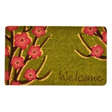 Welcome Floral Coir Doormat