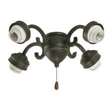 Four Light Ceiling Fan Light Fitter