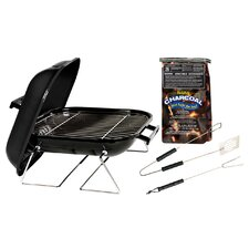 "14"" Tabletop Charcoal Grill with Charcoal and Tool Set"