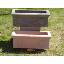 <strong>Algreen</strong> Rail Hugger Rectangular Planters (Set of 2)