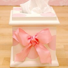 <strong>New Arrivals</strong> Pink Polka Dot Tissue Box Cover