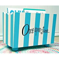 """Once Upon a Time"" Stripe Hand Painted 10.5"" Book Display"
