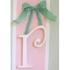 "9"" Hand Painted Hanging Letter - R"