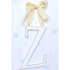 "9"" Hand Painted Hanging Letter - Z"