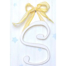 "9"" Hand Painted Hanging Letter - S"