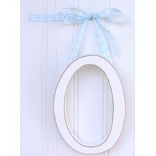 "<strong>New Arrivals</strong> 9"" Hand Painted Hanging Letter - O"