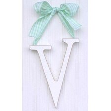 "<strong>New Arrivals</strong> 9"" Hand Painted Hanging Letter - V"
