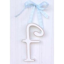 "9"" Hand Painted Hanging Letter - F"