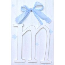 "9"" Hand Painted Hanging Letter - M"
