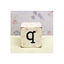 """""""q"""" Letter Block"""
