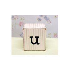 """u"" Letter Block"