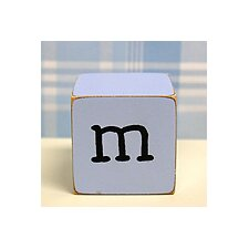 """m"" Letter Block in Blue"